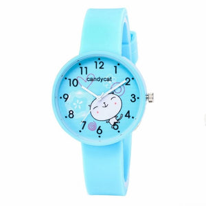 FUNIQUE Women Cute Cat  Watches Cartoon Watch Girl Children Silicone Wristwatches Round Dial Quartz Watch Reloj