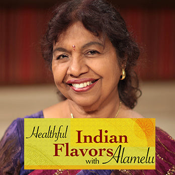 Healthful Indian Flavors with Alamelu  - Cookbook and DVD Box Set