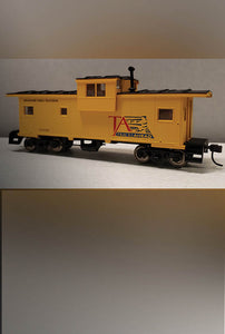Tracks Ahead Logo Caboose (HO Scale) - PRICE INCLUDES SHIPPING