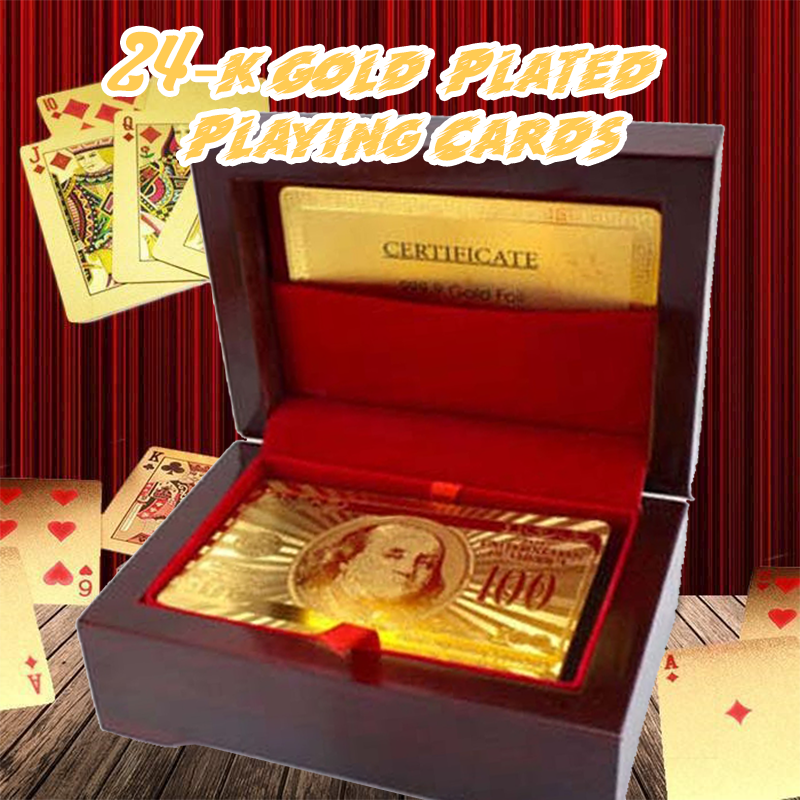 24K Gold-Plated Playing Cards ( With Case )