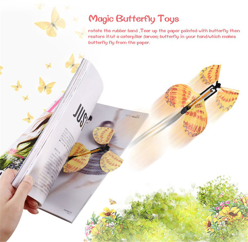 Magic Flying Butterfly Toys (Set of 5) [Random]