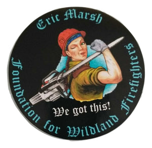 "S20. Wendy Wildland 4.5"" Round Sticker"