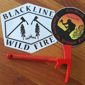 S8. Pulaski Bottle Opener and Sticker Pack - Red or Black