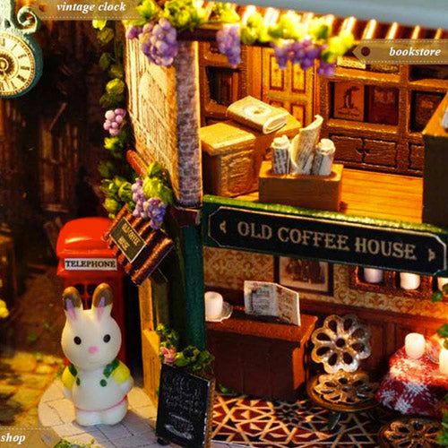 miniature dollhouse coffee