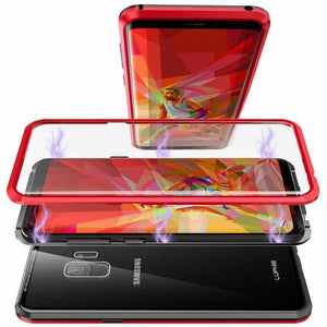 Magnetic Absorption Glass Cover Case for Samsung Galaxy
