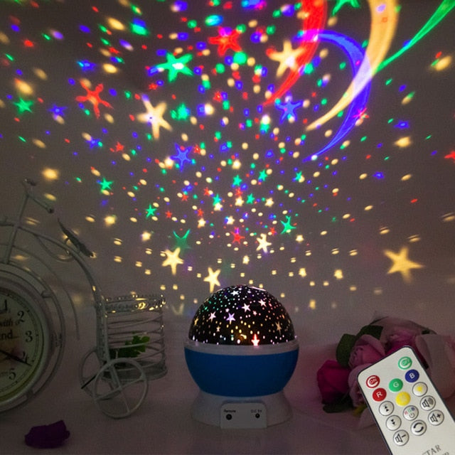 Self Rotating Constellation Night Light Projector Lamp