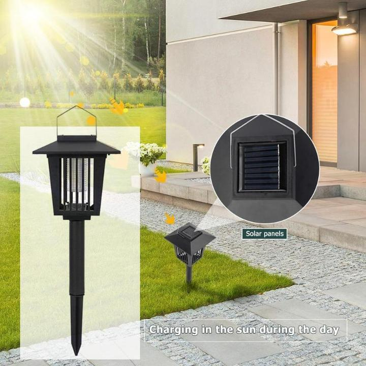 Solar Bug Zapper Lamp