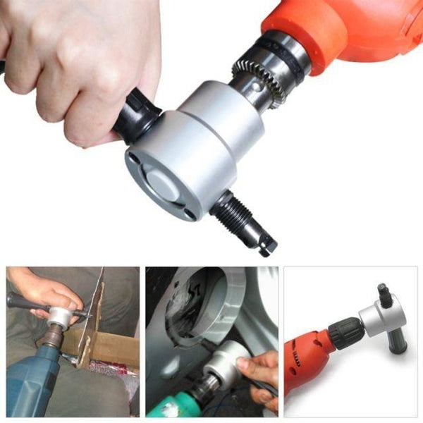 Double Headed Sheet Metal Nibbler With Power Drill Attachment
