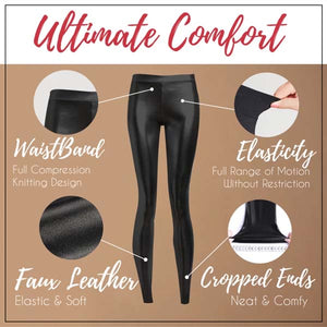 Stretch-Fit Faux Leather Shaper