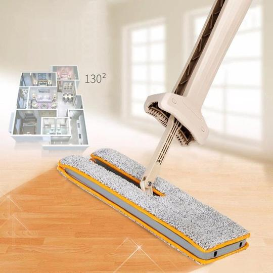 Double Sided Lazy Mop with Self-Wringing Ability