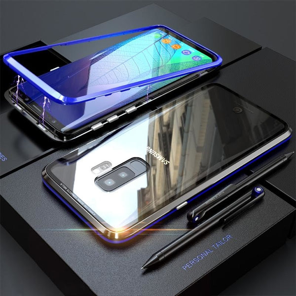 Fashion Magnetic Absorption Transparent Glass Cover Phone Case