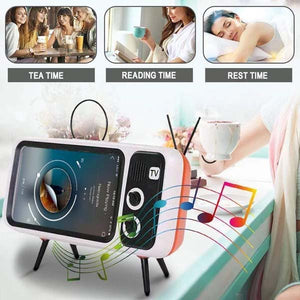 RETRO TV BLUETOOTH SPEAKER MOBILE PHONE HOLDER