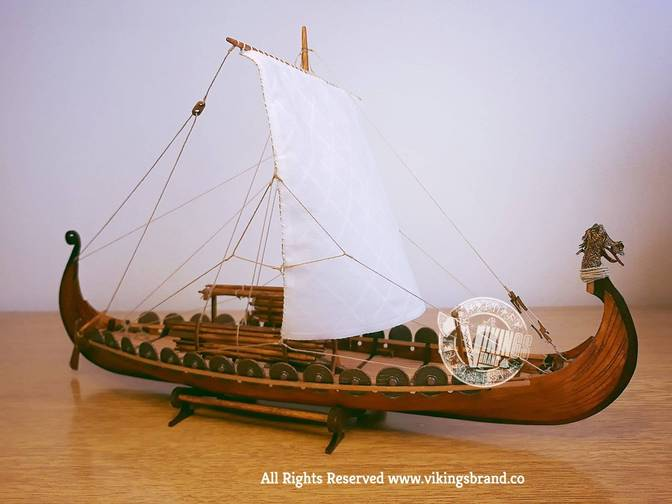 Drakkar Viking Ship - Wooden Model - DIY Kit
