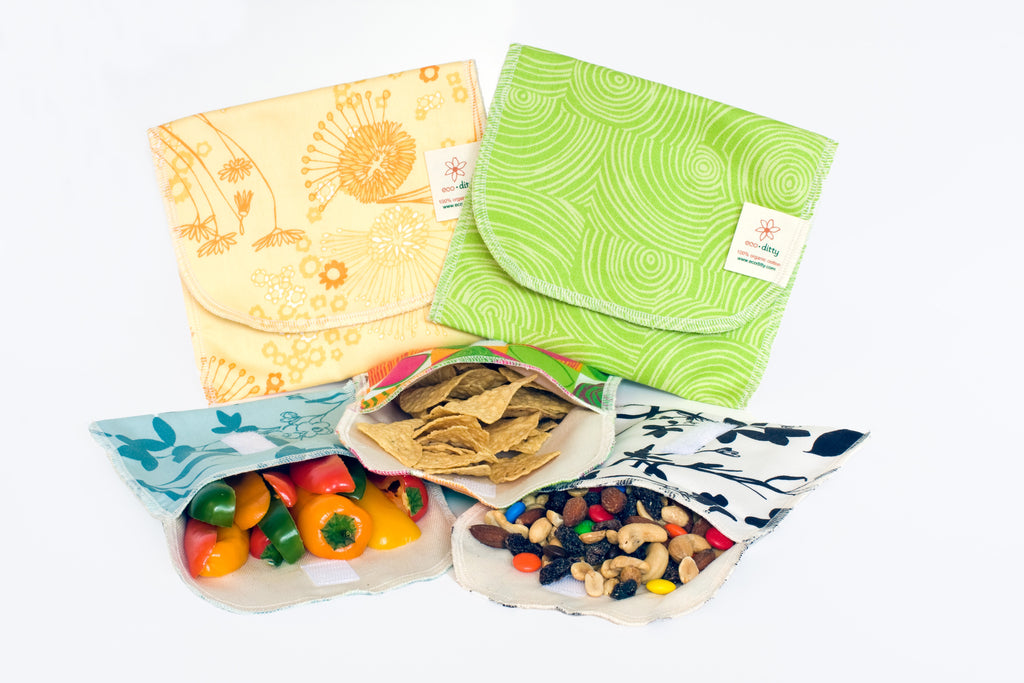 Reusable Snack Bags Organic Cotton