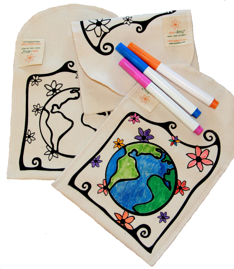 Reusable Snack Bag: Color-Your-Own: Earth