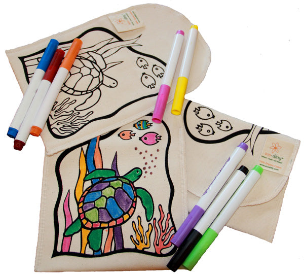 Reusable Snack Bag: Color-Your-Own: Turtle