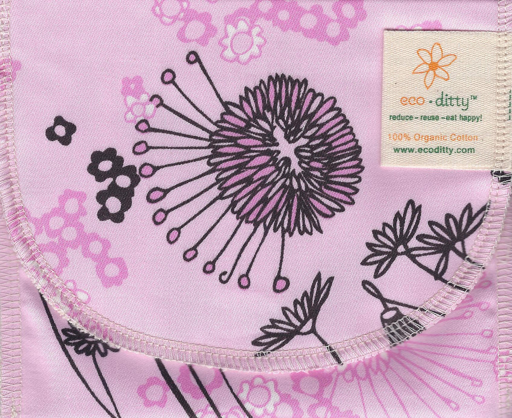 Reusable Snack Bag: Fields of Pink