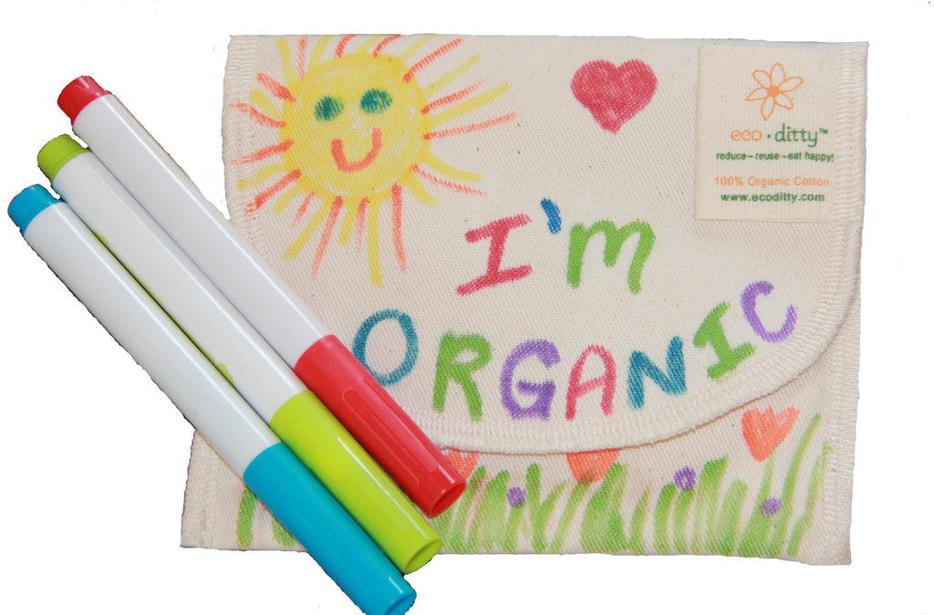 Reusable Sandwich Bag: Color-Your-Own