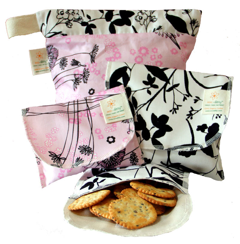 Reusable Sandwich Bag: Fields of Pink