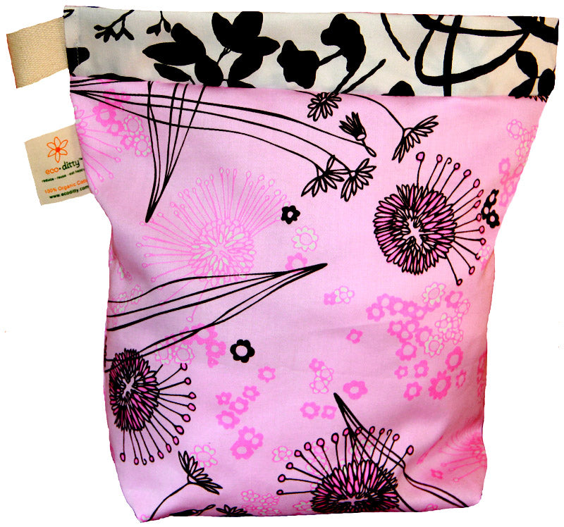 Reusable Lunch Bag: Fields of Pink