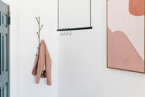 hanging clothes rack black