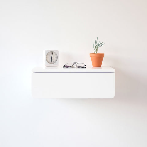 White Floating Nightstand