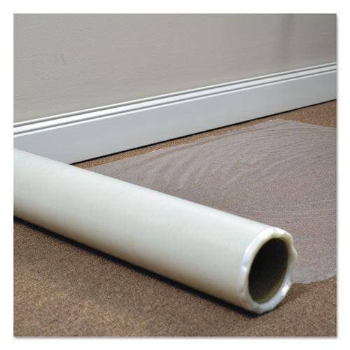 Roll Guard Temporary Floor Protection Film for Carpet, 24 x 2400, Clear