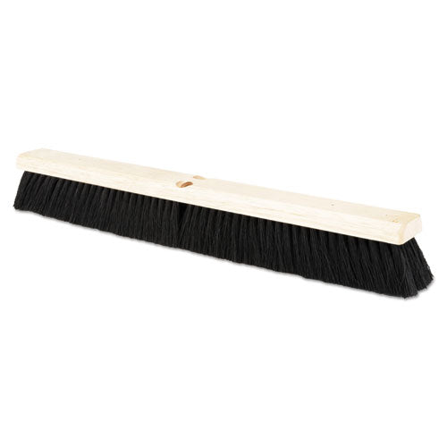 "Floor Brush Head, 2 1/2"" Black Tampico Fiber, 24"""