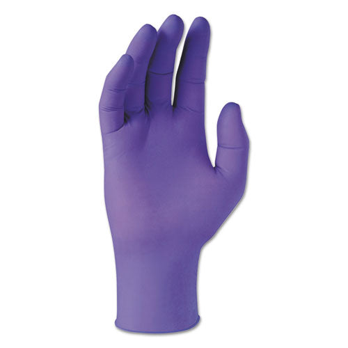 PURPLE NITRILE Exam Gloves, 242 mm Length, X-Large, Purple, 90/Box