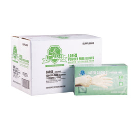 General Purpose Latex Gloves, Large, 100/box, 10 boxes/case
