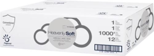 Heavenly Soft Jumbo Toilet Tissue, Septic Safe, 2-Ply, 1000'/roll, 12/case