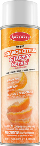 Sprayway Orange Citrus Crazy Clean All Purpose Cleaner, 19 oz, 12/case