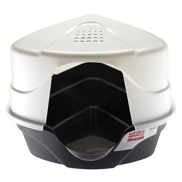 Nature's Miracle® Advanced Hooded Corner Cat Litter Box