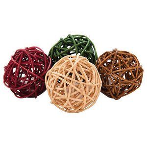 Grreat Choice® Natural Wicker Ball Cat Toy