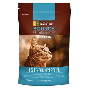 Simply Nourish™ SOURCE Indoor Adult Cat Food - Natural, Grain Free, Fish & Chicken
