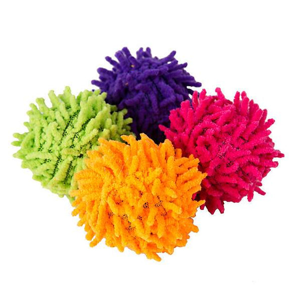 Grreat Choice™ 4-Pack Noodle Ball Cat Toy