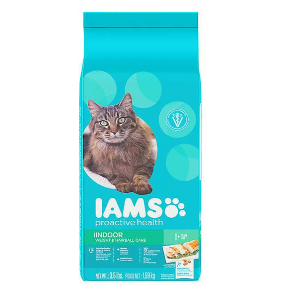 Iams® ProActive Health™ Indoor Adult Cat Food - Weight & Hairball Care, Chicken