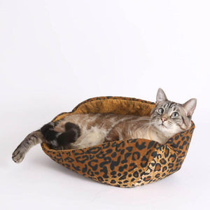 Leopard Cat Canoe Cat Bed