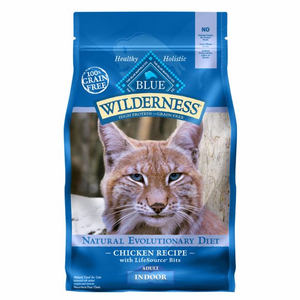BLUE Wilderness® Indoor Adult Cat Food - Grain Free, Natural, Chicken