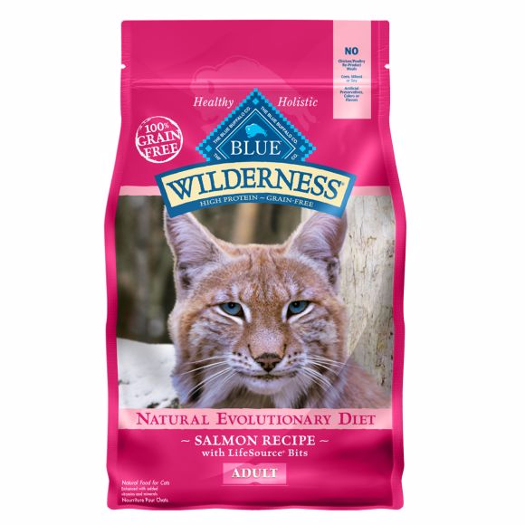 BLUE Wilderness® Adult Cat Food - Grain Free, Natural, Salmon