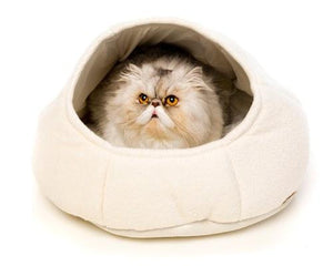 ALL FOR PAWS CAT BED CATZILLA NEST WHITE