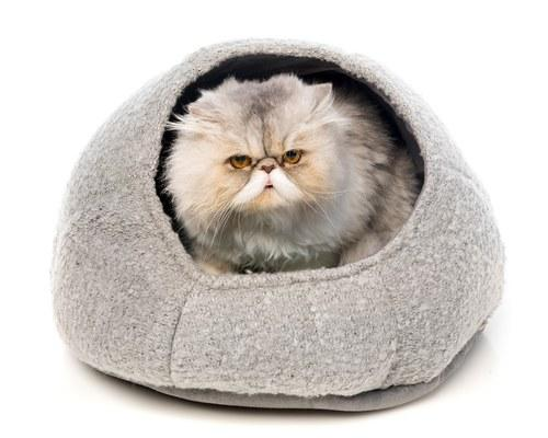ALL FOR PAWS CAT BED CATZILLA NEST GREY