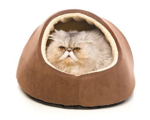 BONE DESIGNS CAT BED HIDEY HOLE BROWN