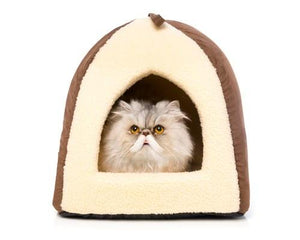 BONE DESIGNS CAT BED HOME BROWN
