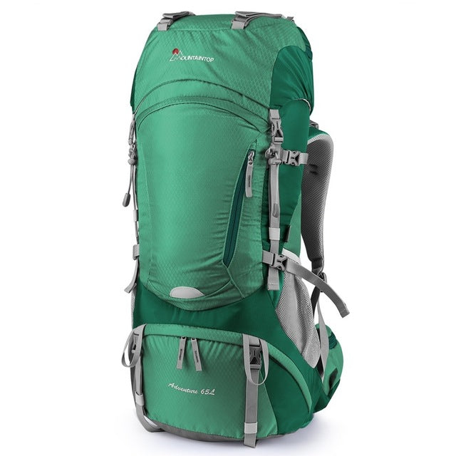 cbb7692589 ... Mountaintop 65L Hiking Backpack Ripstop Outdoor Packs for Climbing  Camping with Rain Cover ...