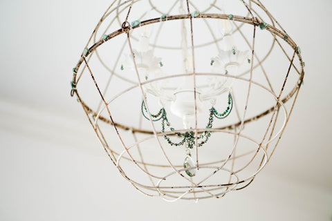 diy gemstone chandelier