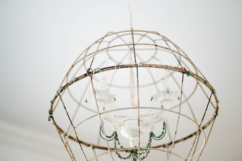 diy gemstone crystal chandelier