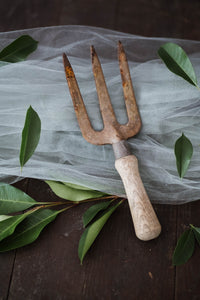 Rustic Wood-Handled Garden Tool - Old Grace Gathering Co.