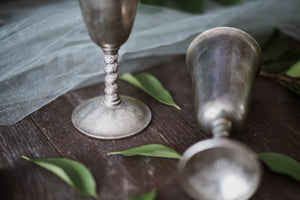 Silver Toasting Goblets - Old Grace Gathering Co.
