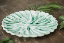 Load image into Gallery viewer, Green Floral Plate - Old Grace Gathering Co.